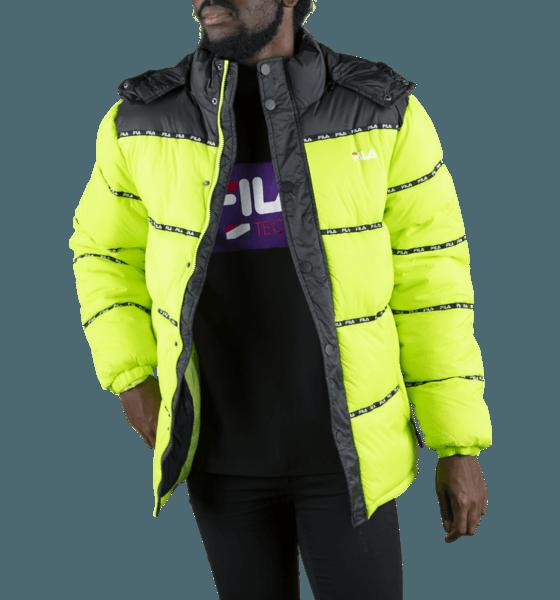 Fila M Tatsuji Puff Jacket Jackor ACID LIME/BLACK