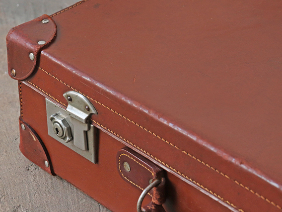 Leather Suitcase Brown