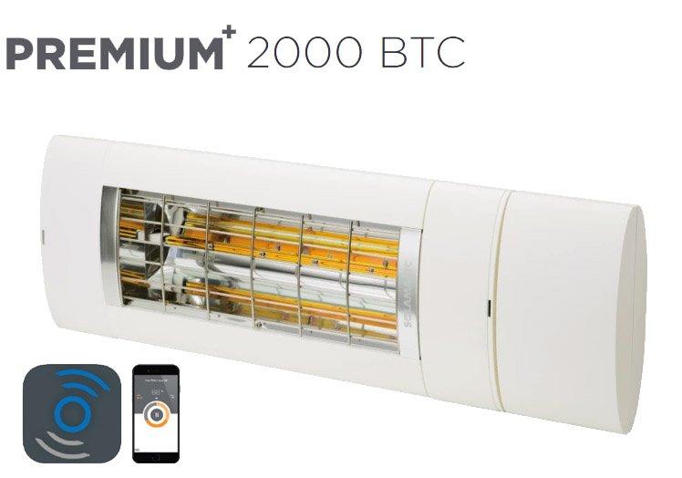 Solamagic - 2000 Premium + BTC Patio Heater - White - 5 Years Warranty