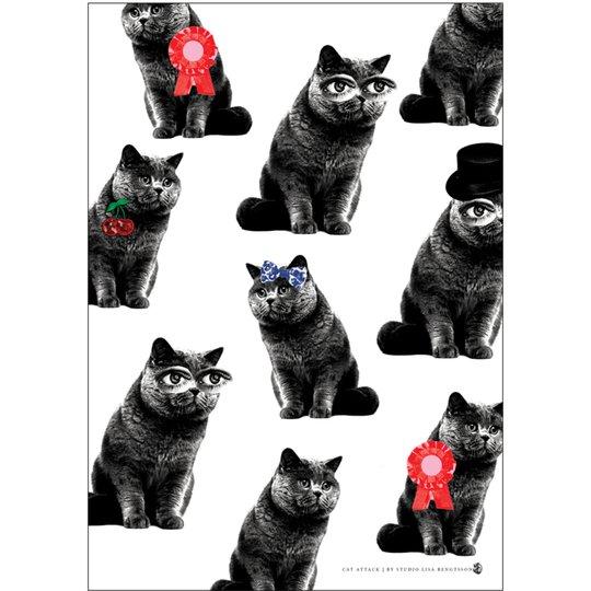 Lisa Bengtsson A3 Poster Cat Attack