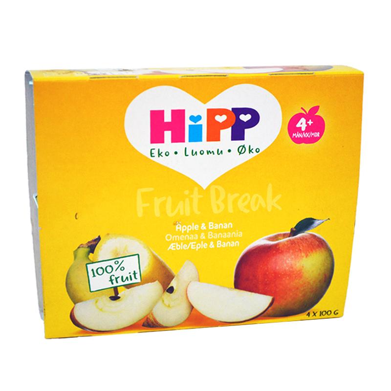 Fruktpuré Äpple & Banan 4 x 100g - 58% rabatt