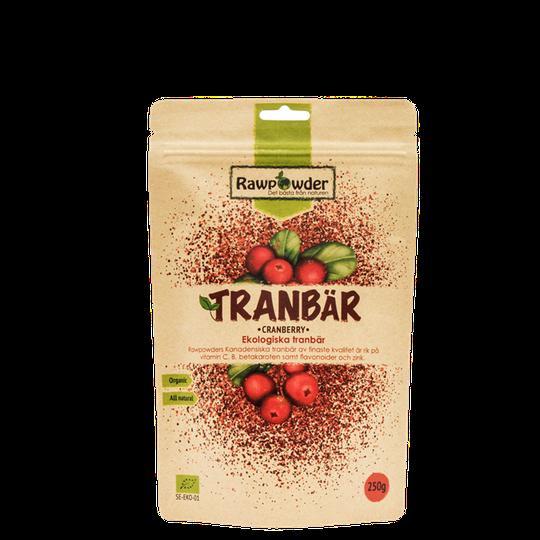 Tranbär, Ekologiska tranbär, 250 g
