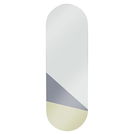 Oval Spegel Guld/Grå L
