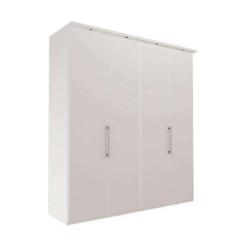 Garderobe Atlanta - Hvit 200 cm, 216 cm, Med gesims