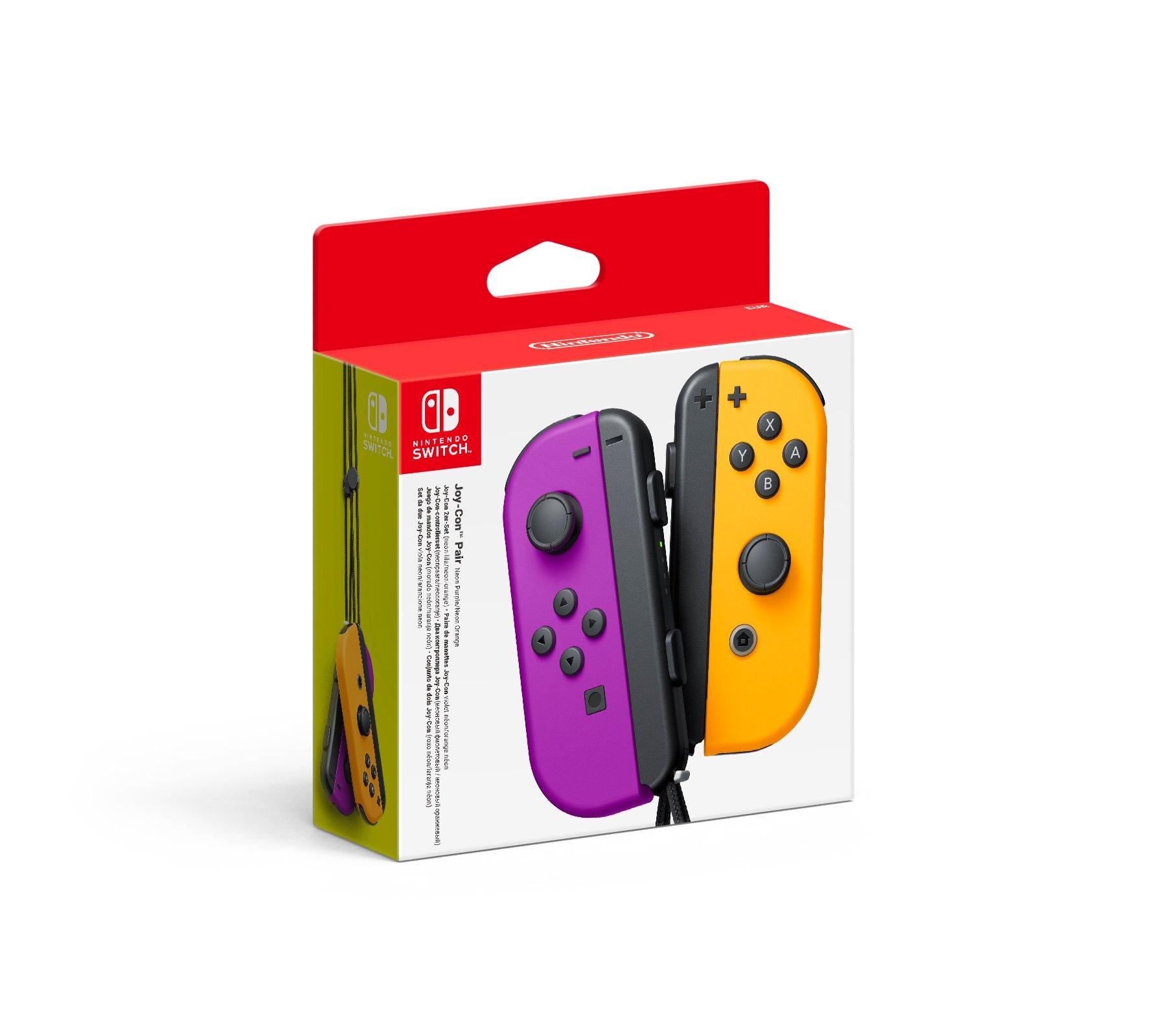 Nintendo Switch Joy-Con Controller Pair - Neon Purple (L) & Neon Orange (R)