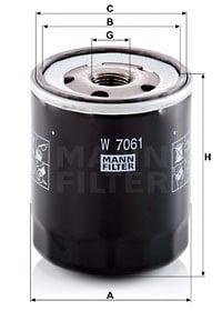 Öljynsuodatin MANN-FILTER W 7061