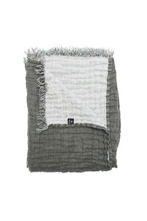 Hannelin Pledd Mørkegrå/Hvit 130x170