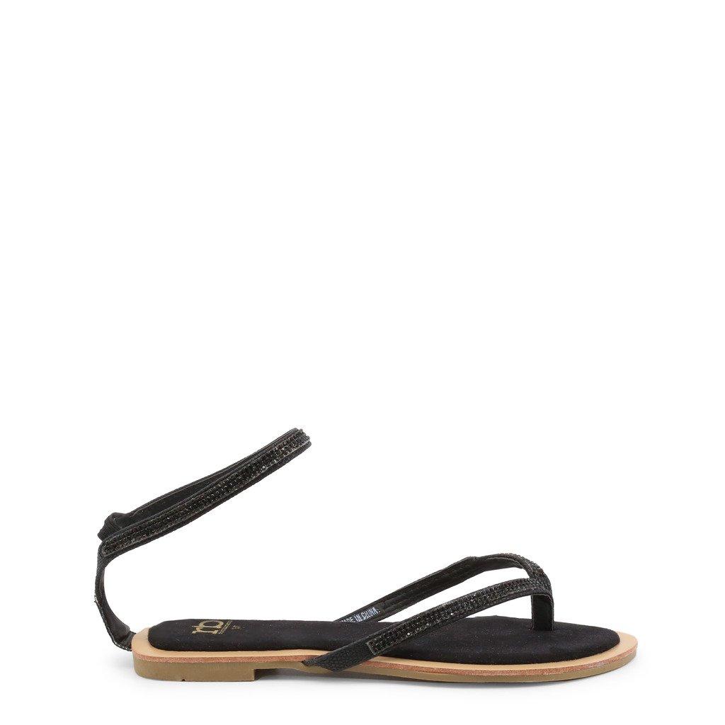 Roccobarocco Women's Flip Flops Black RBSC1C502 - black EU 35