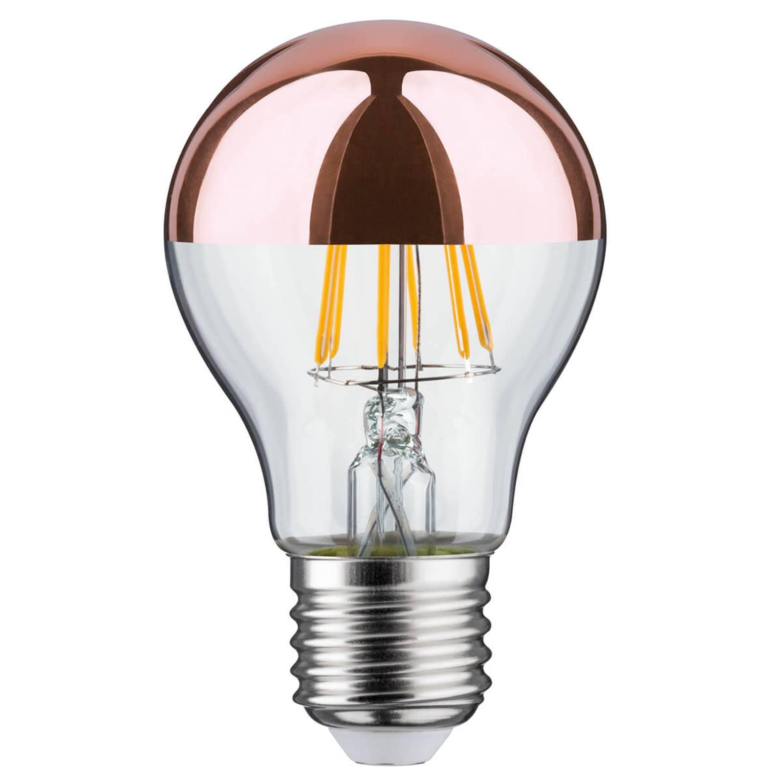 LED-pääpeililamppu E27 6,5 W 827, kupari