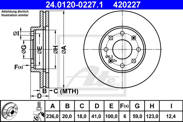 Jarrulevy ATE 24.0120-0227.1