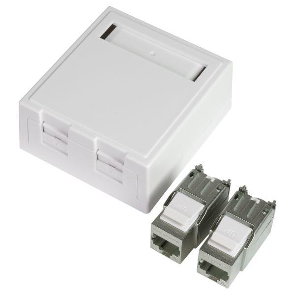Elko EKO02825 Modulæruttak 6 A, RJ45 2 koblinger