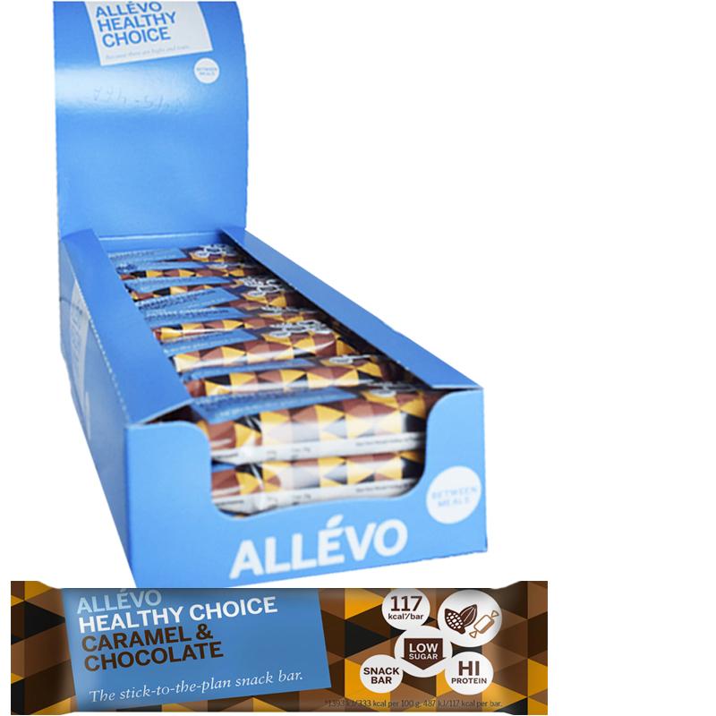 "Hel Låda Snack Bar ""Chocolate & Caramel Flavor"" 24 x 35g - 47% rabatt"