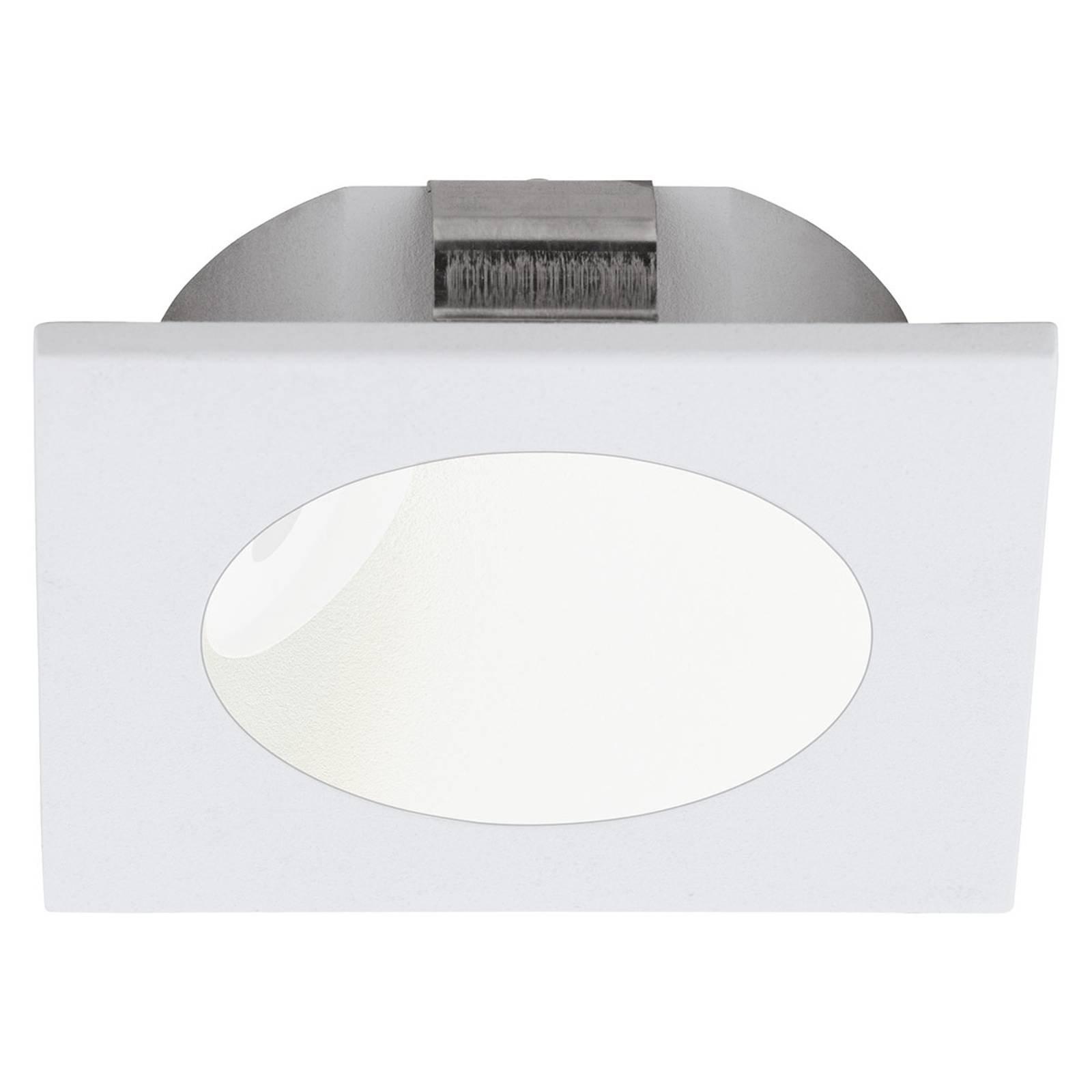 LED-innfelt vegglampe Zarate, hvit