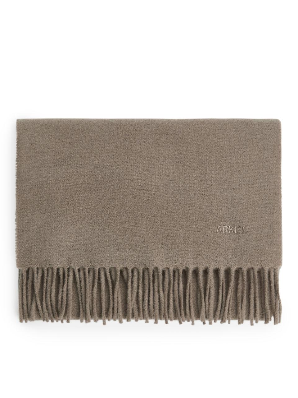 Woven Wool Scarf - Green