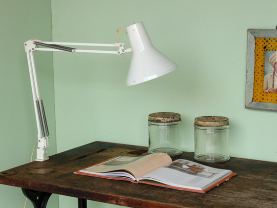 Classic 1970s Anglepoise Style Lamp Brown Medium