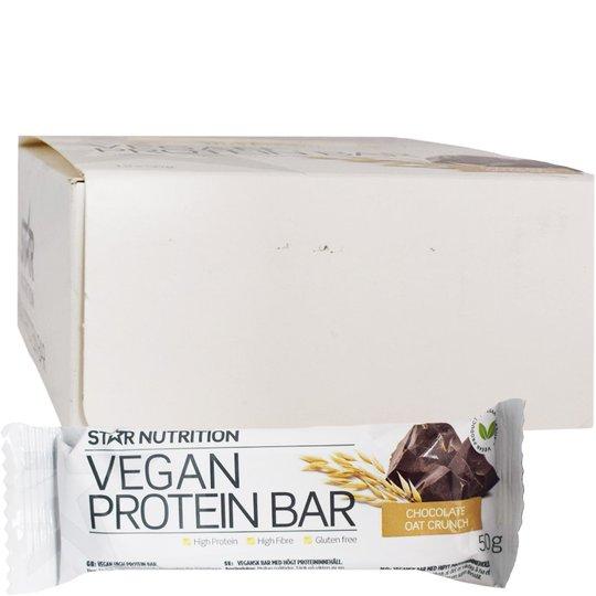 "Hel Låda Proteinbars ""Vegan Chocolate Oat Crunch"" 12 x 50g - 81% rabatt"