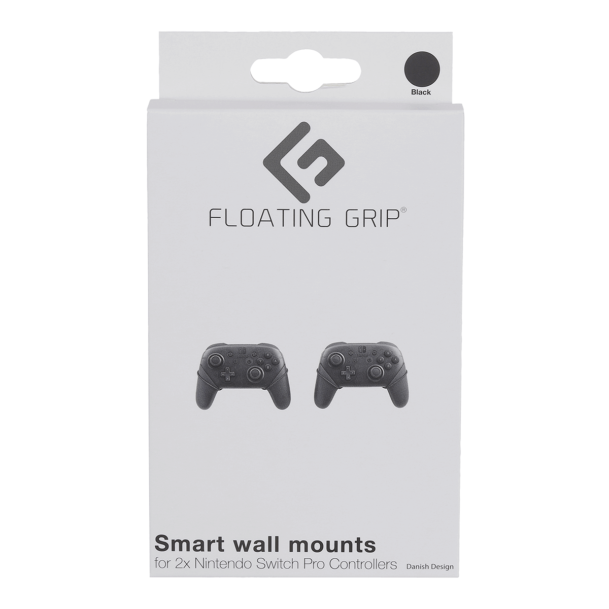 Nintendo Switch Pro Controller wall mount by FLOATING GRIP®, Black