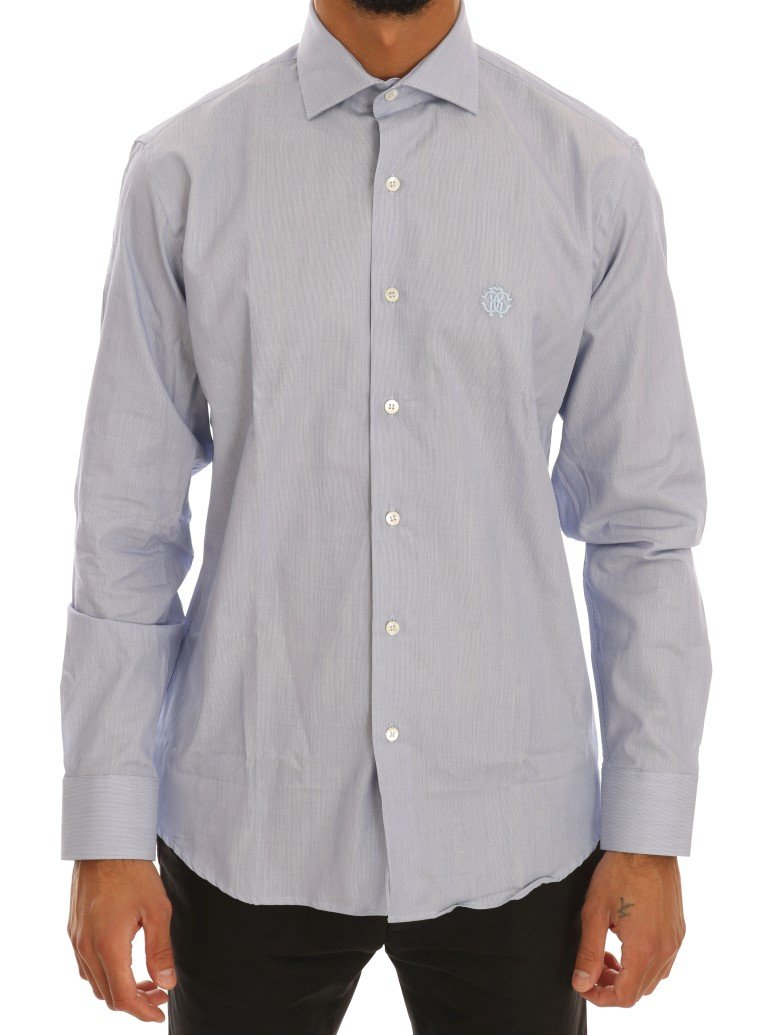 Cavalli Men's Shirt Blue TSH1484 - 39