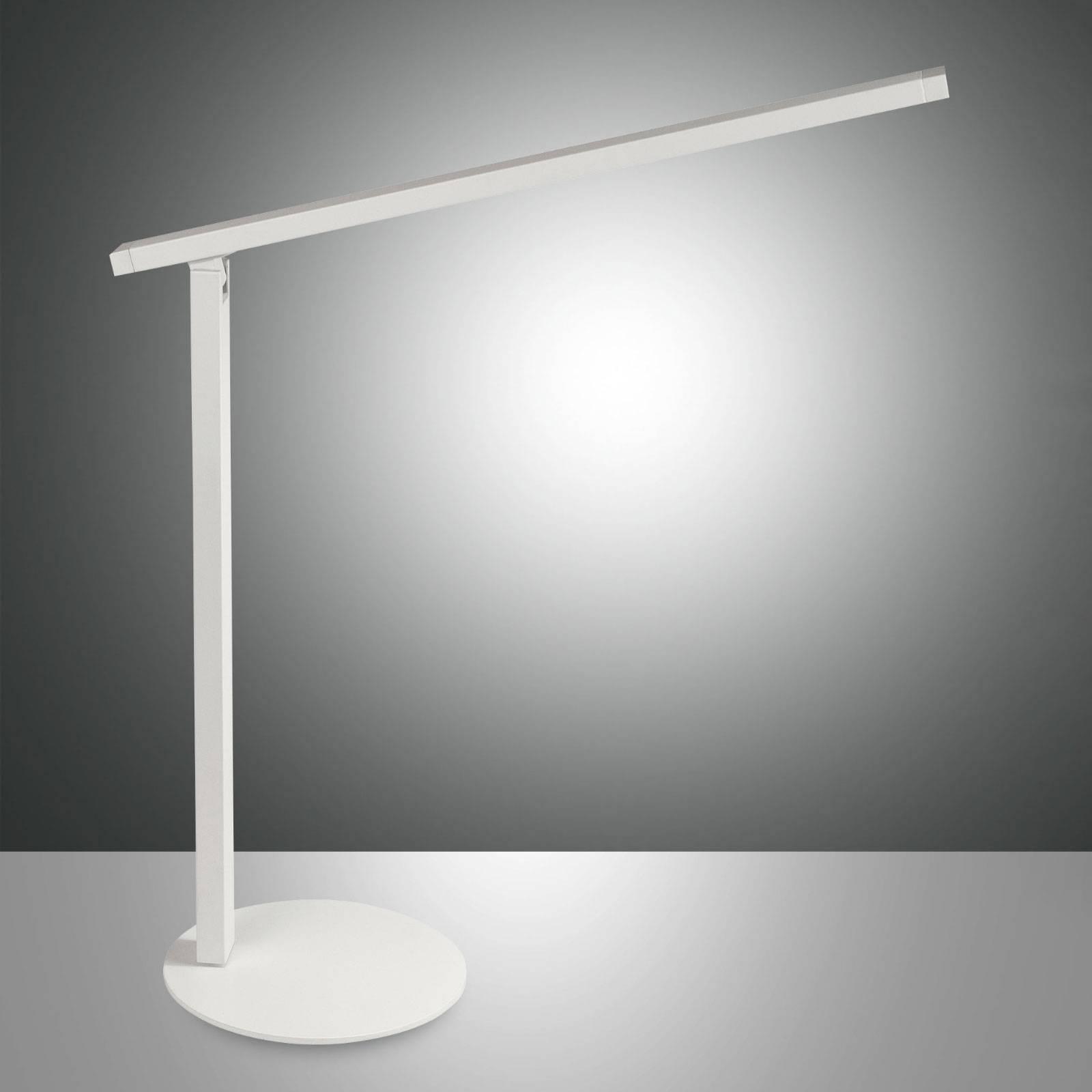 LED-työpöytälamppu Ideal himmentimellä, valkoinen