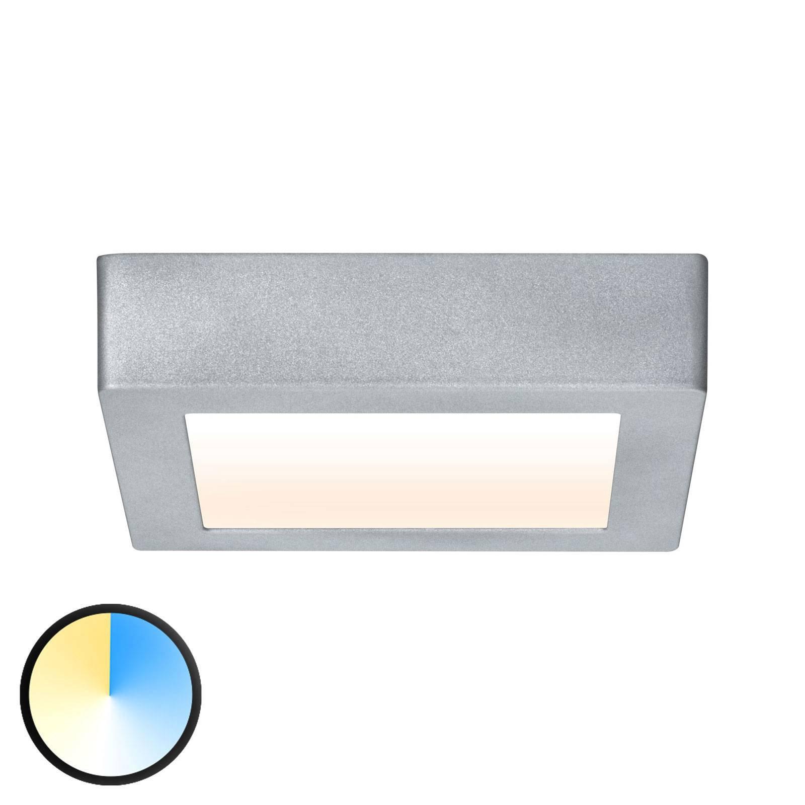 Paulmann Carpo LED-taklampe krom 17x17 cm