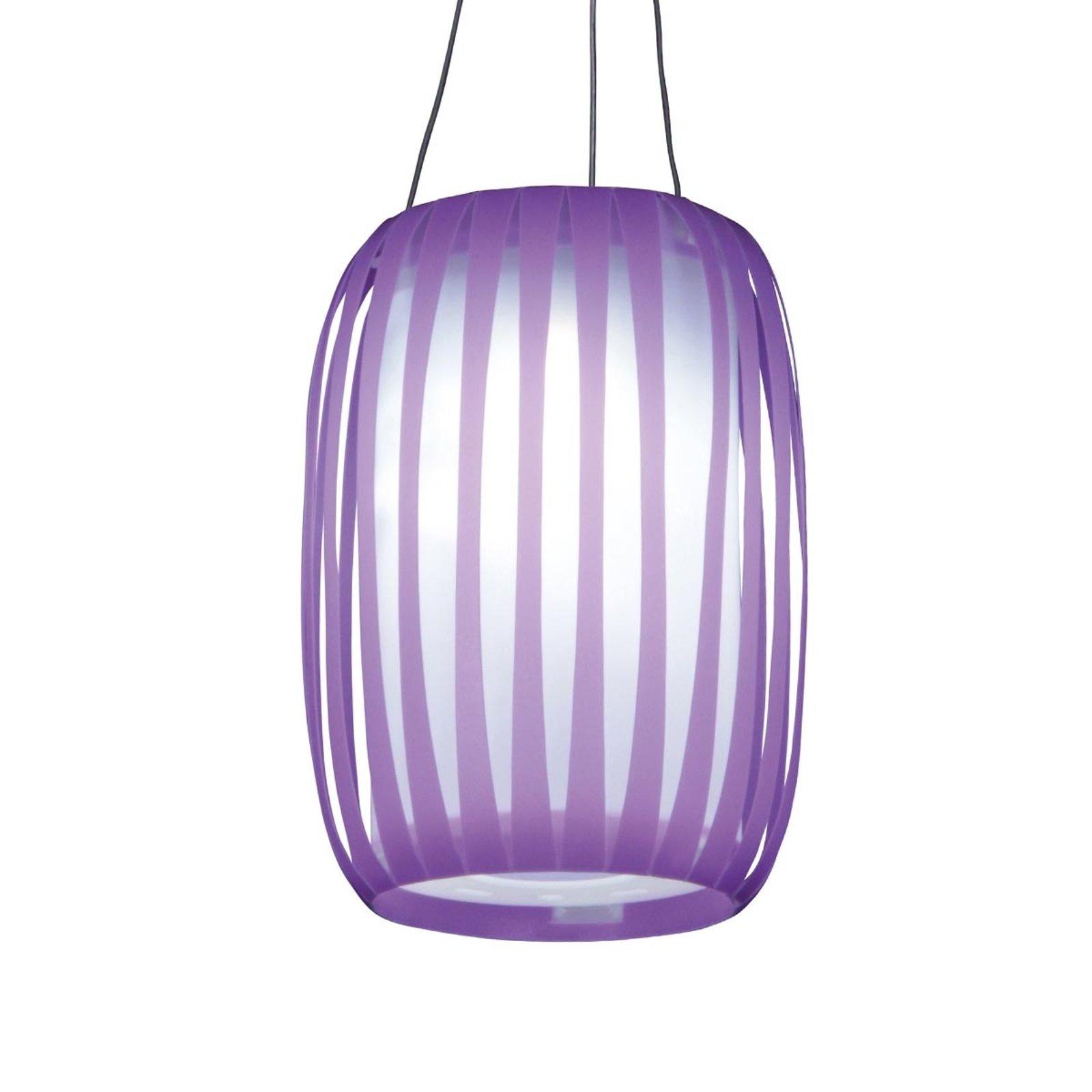 LED solcellelampen Lilja, lilla i lyktform