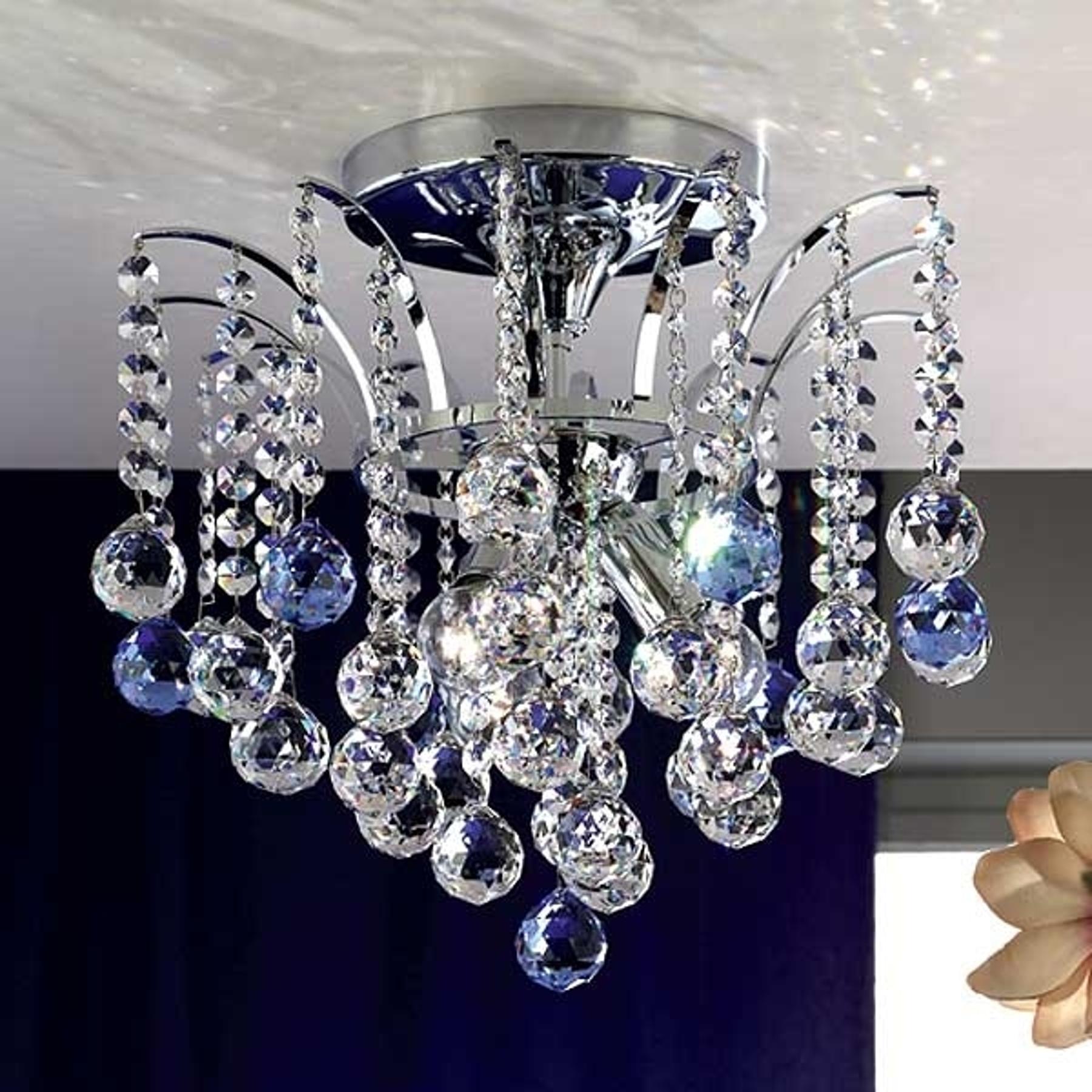 Kimaltava kristallikattovalaisin LENNARDA, 42 cm