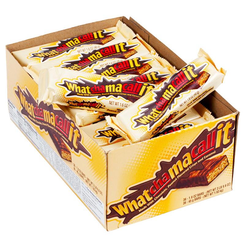 Hel Låda Choklad-, Jordnöt- & Karamellbars 36 x 45g - 91% rabatt