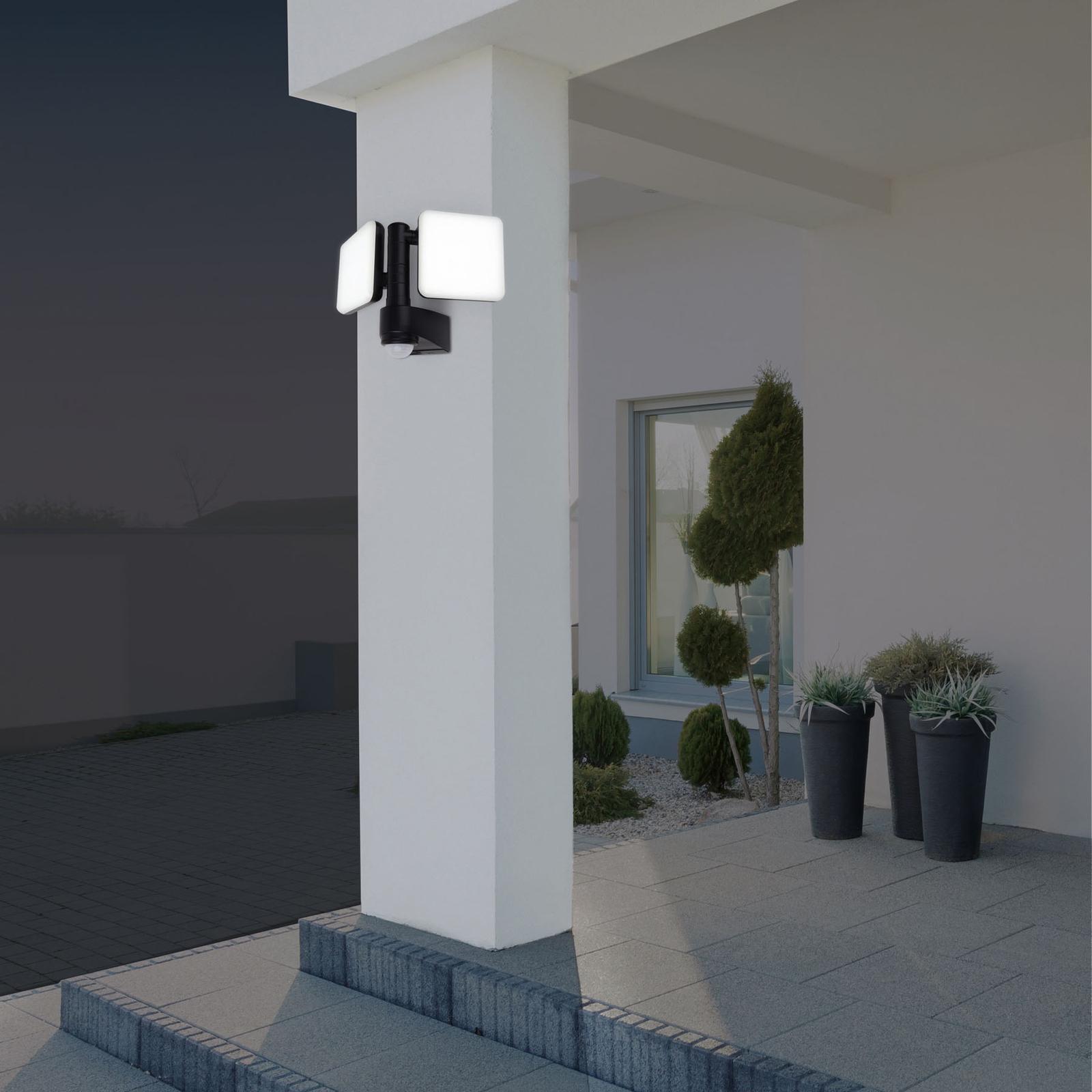 LED-ulkoseinälamppu Jaro, tunnistin, 2 lamppua