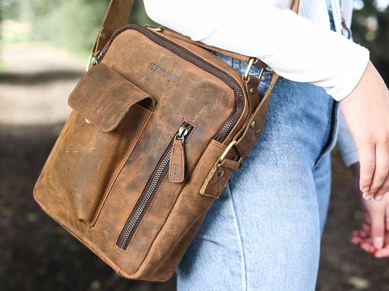 Women's Leather Shoulder Bag - The Indy