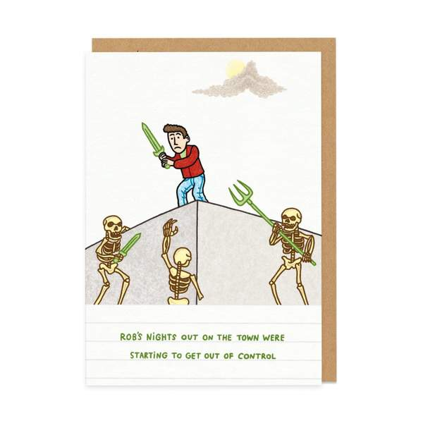 Rob's Night Out Greeting Card