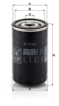 Öljynsuodatin MANN-FILTER W 719/5