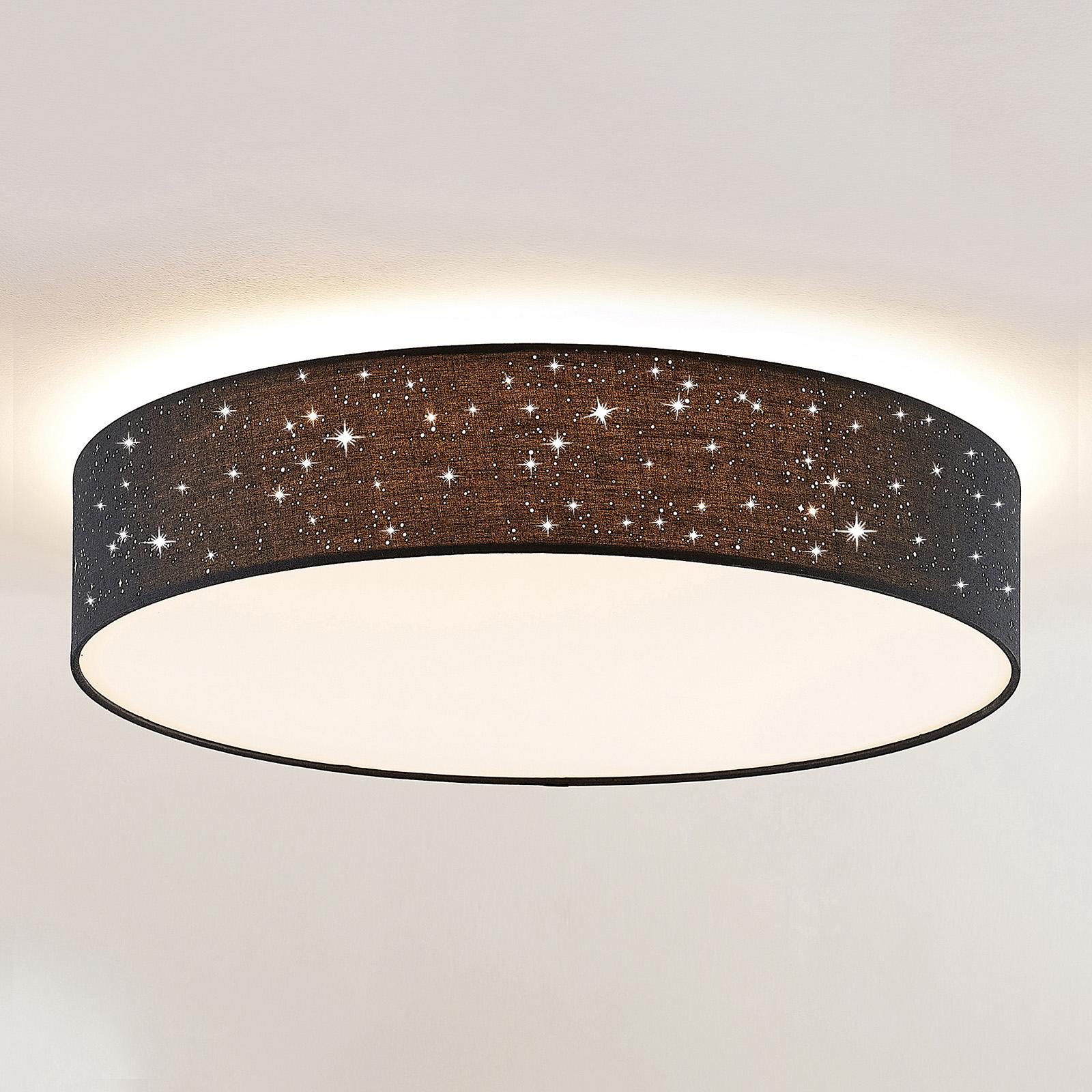 Lindby Ellamina -LED-kattovalaisin, 60 cm, musta