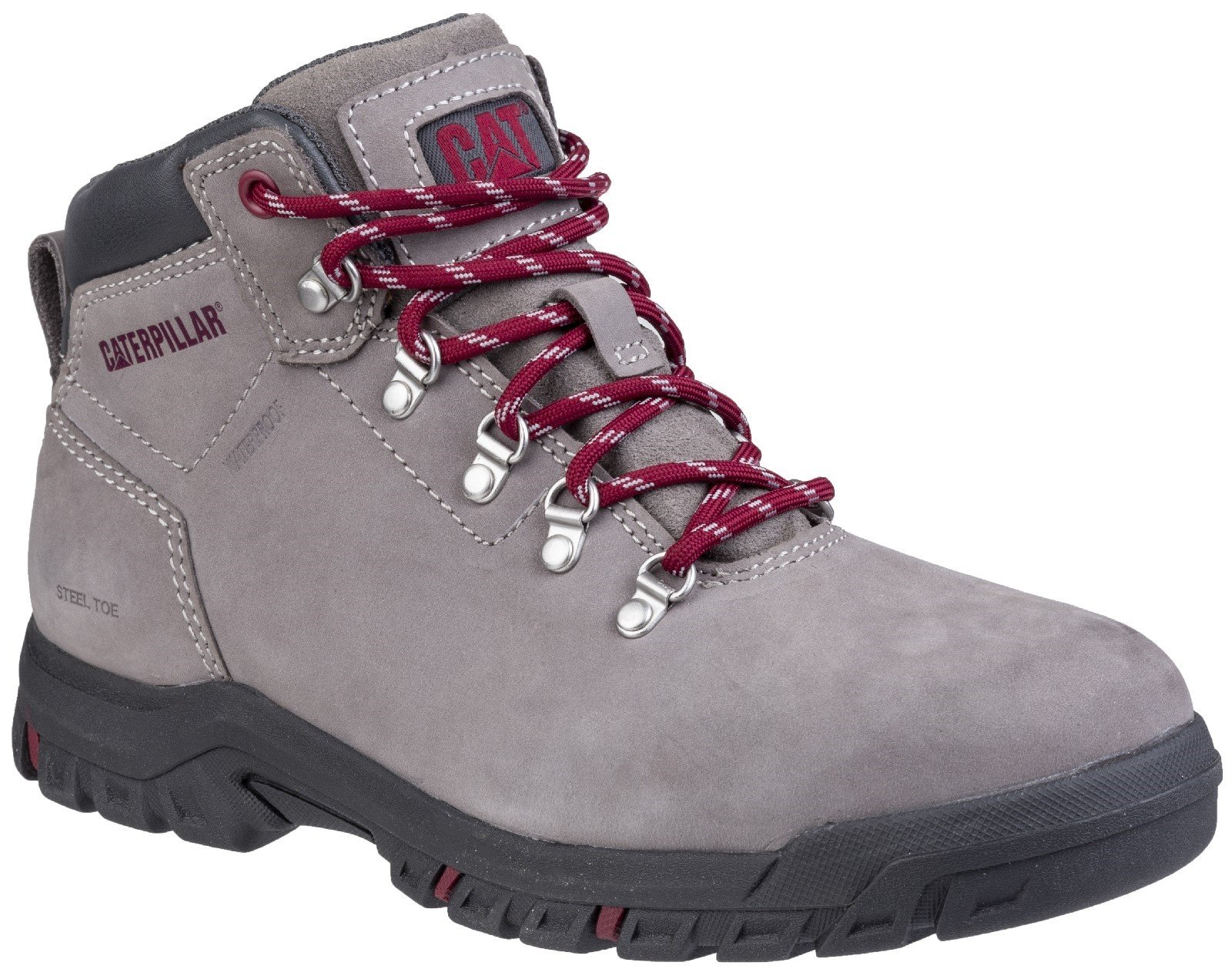 Caterpillar Women's Mae Lace Up Safety Boot Grey 28172 - Grey 3
