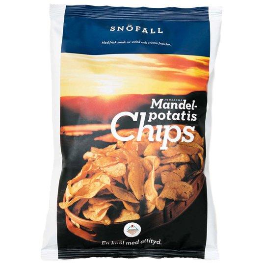 Chips Mandelpotatis Vitlök & Créme Fraiche - 25% rabatt