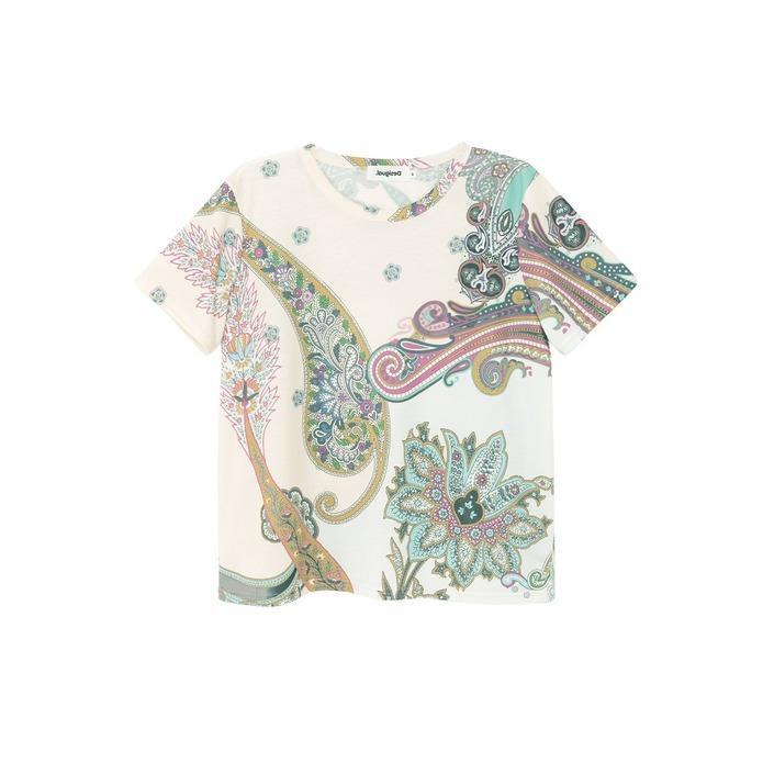 Desigual Women's T-Shirt White 263187 - white S