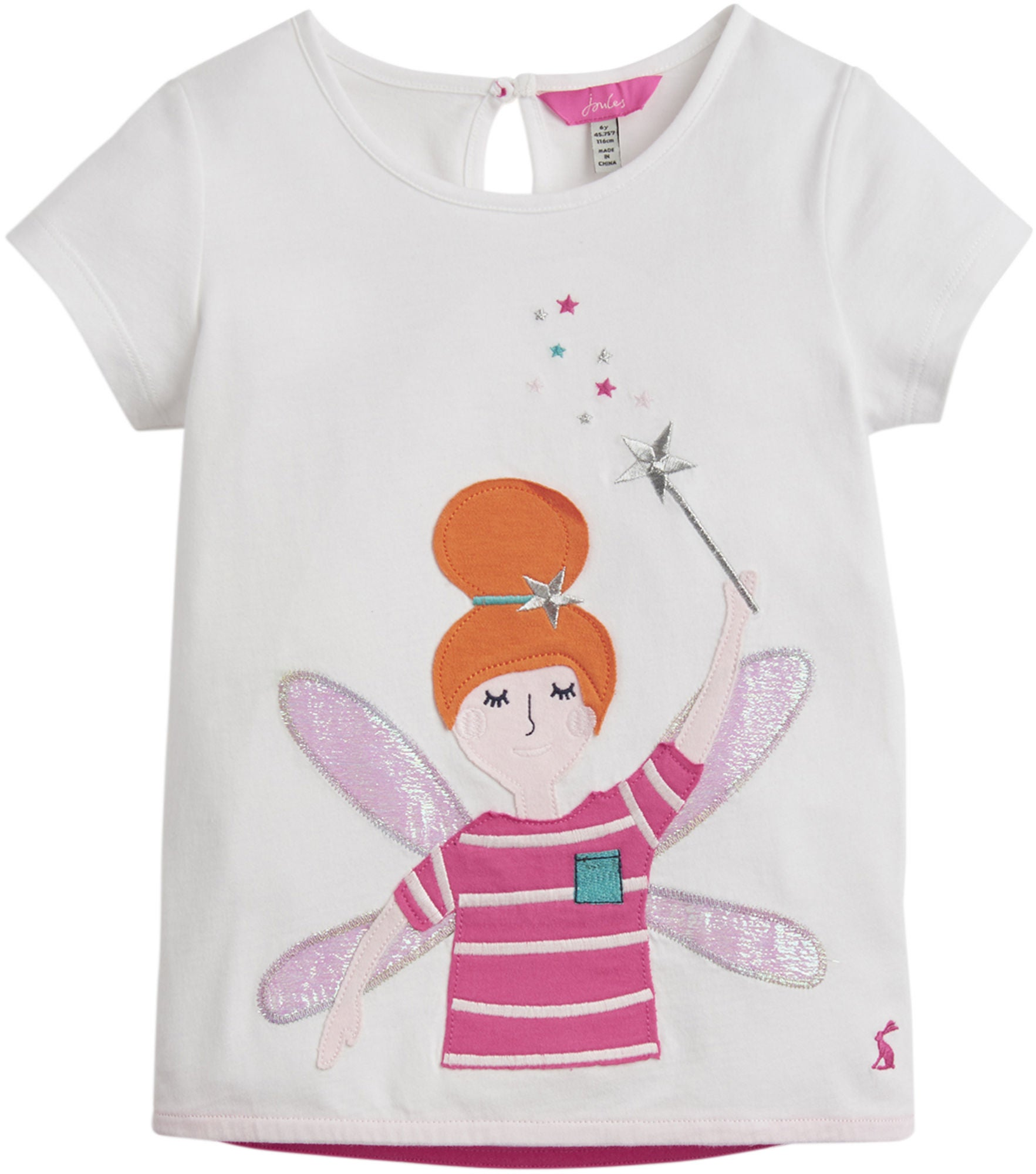 Tom Joule Applique T-Shirt, White Fairy 2 År