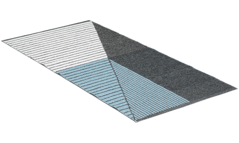 Stripe blå - plastteppe