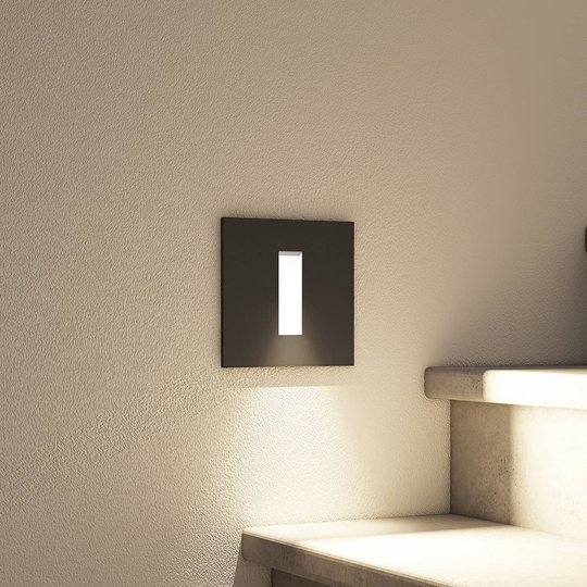 Arcchio Lanti -LED-uppovalaisin, musta