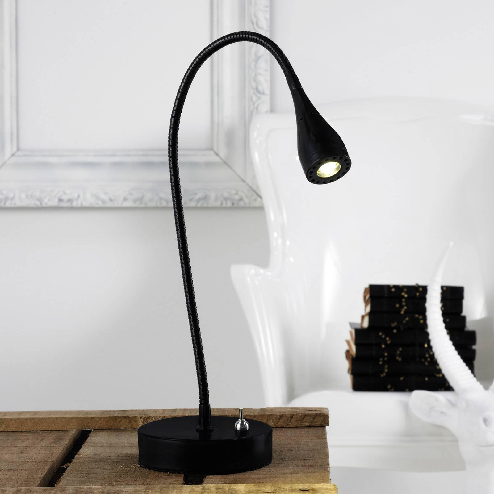 Mento - taipuisa LED-pöytävalaisin, musta