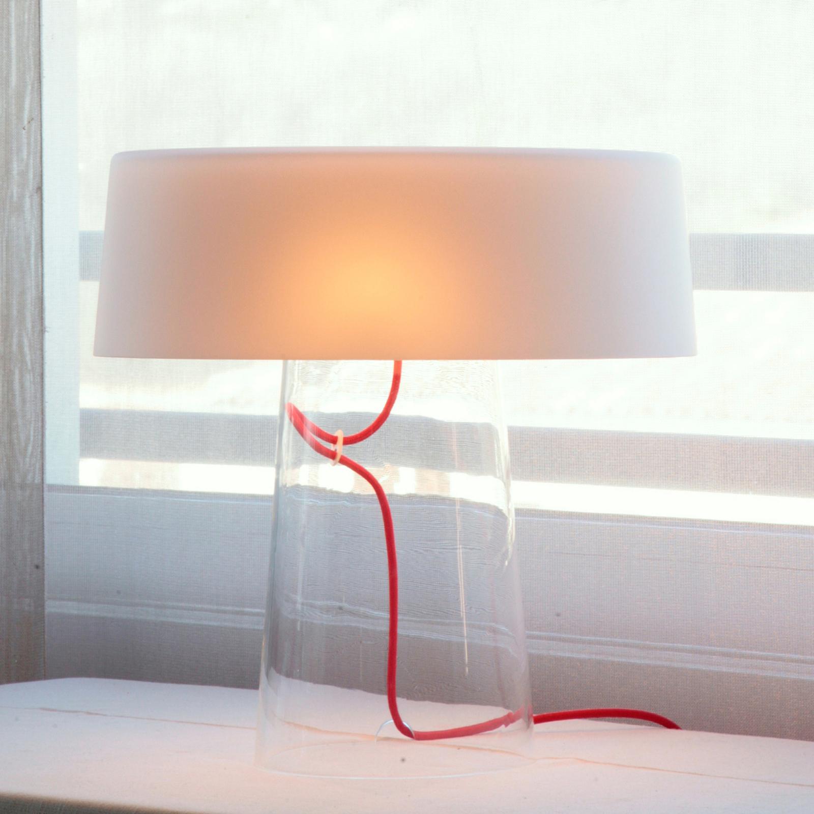 Prandina Glam pöytälamppu 36 cm valkoinen