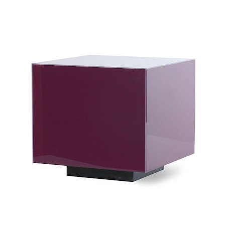 Mirror Block Table Purple M