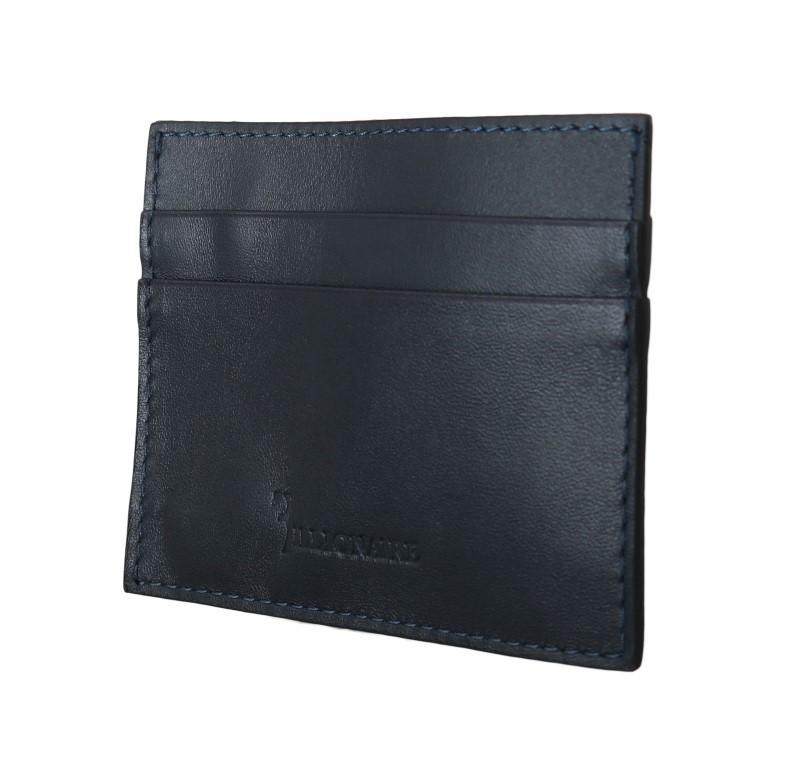Billionaire Italian Couture Men's Leather Cardholder Wallet Blue VAS1446