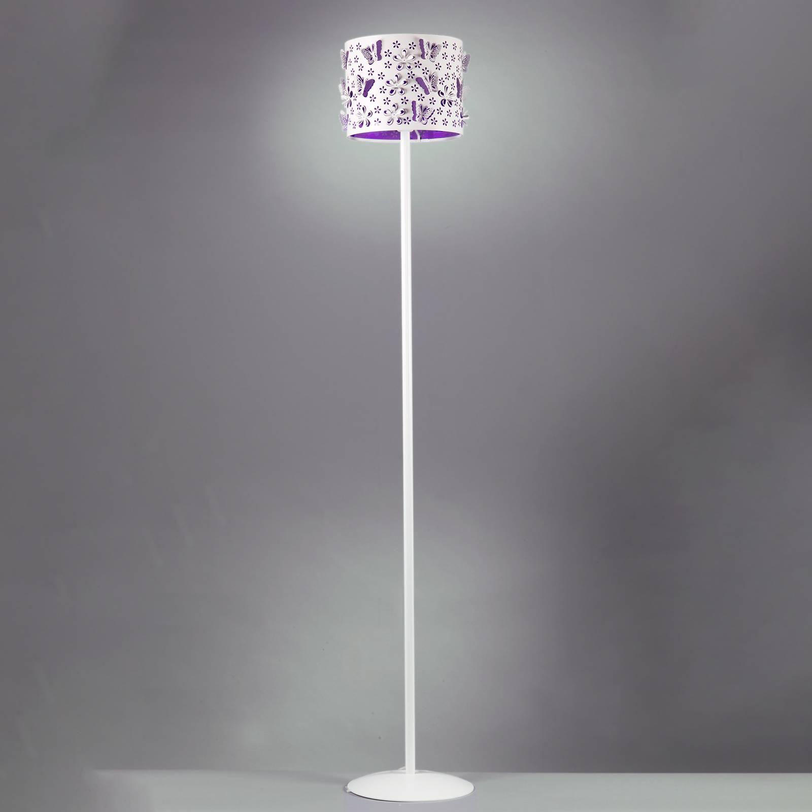 Lattiavalaisin Titilla, valkoinen, violetti