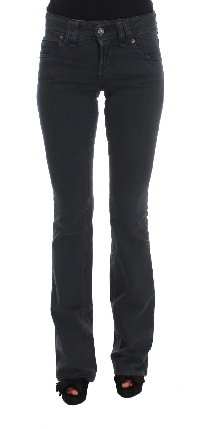 John Galliano Women's Cotton Blend Slim Fit Bootcut Jeans Blue SIG30161 - W25