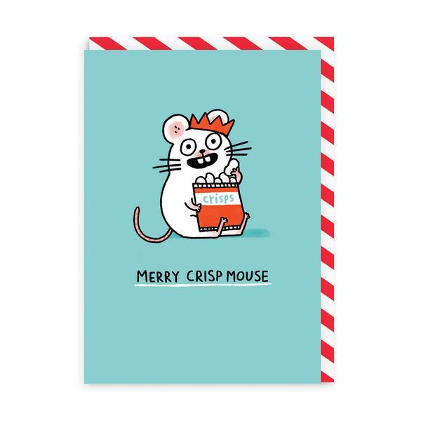 Merry Crispmouse Greeting Card
