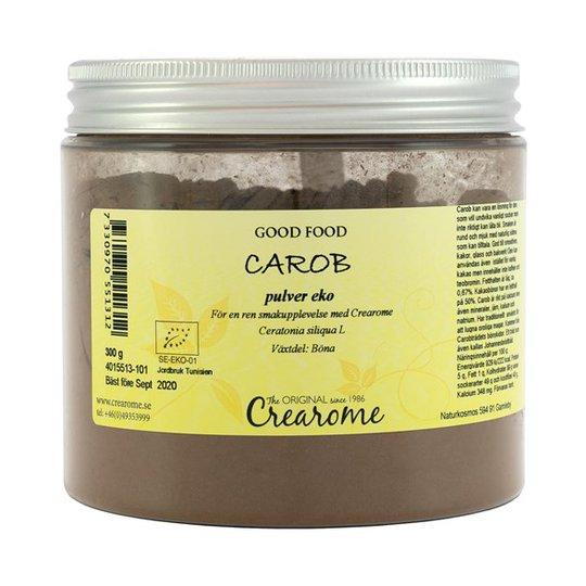 Crearome Ekologiskt Carobpulver, 300 g