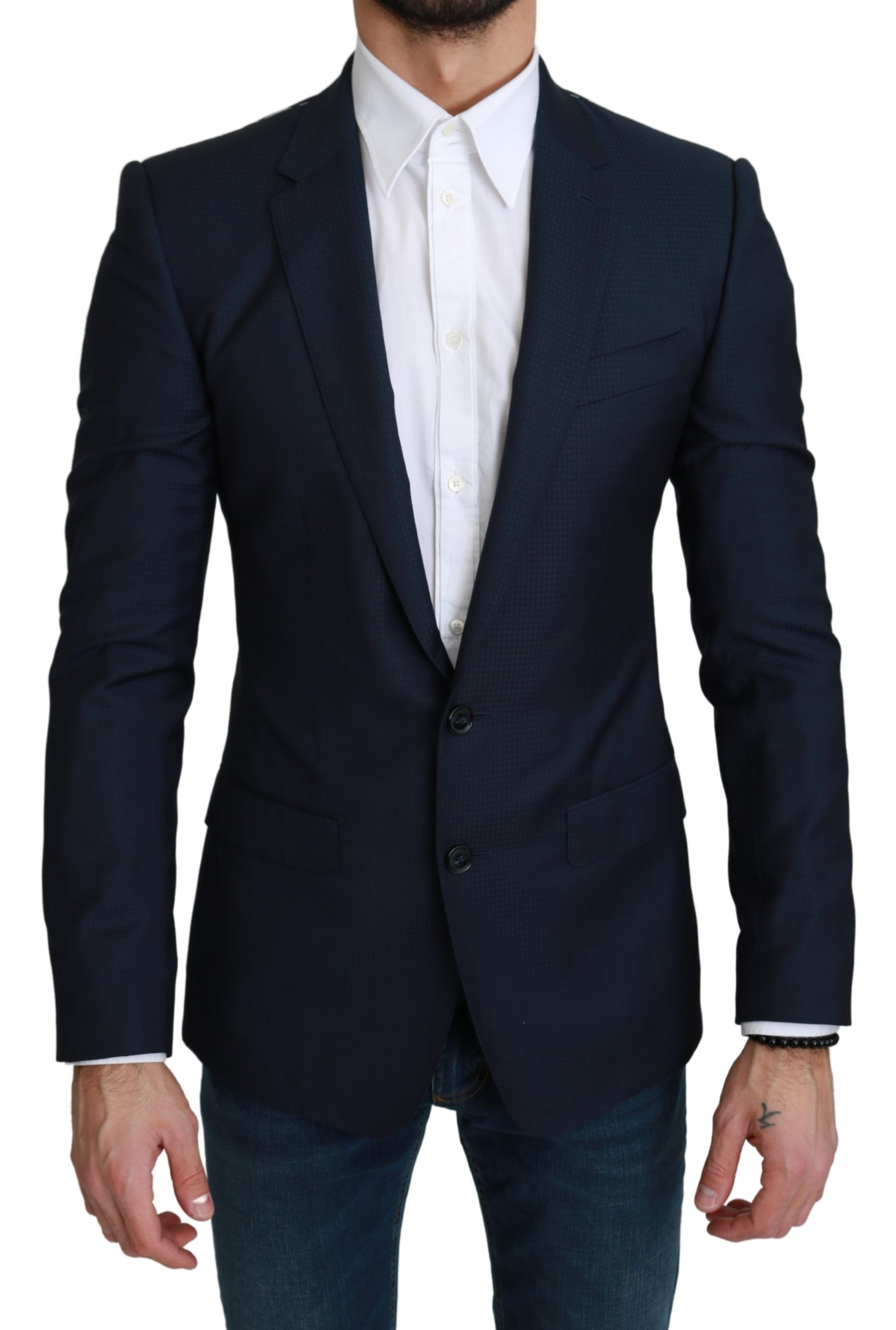 Dolce & Gabbana Men's Single Breasted MARTINI Blazer Navy Blue KOS1746 - IT44 | XS