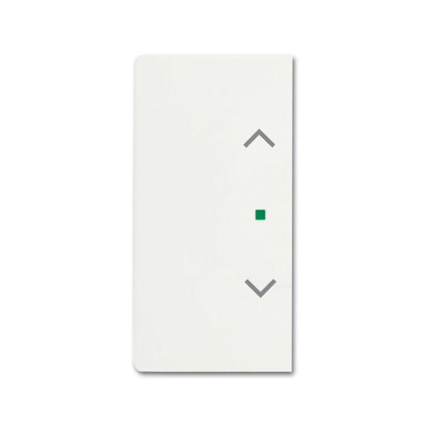 ABB Future Linear 6220-0-0608 Yksiosainen vipupainike verhot, oikea/vasen valkoinen