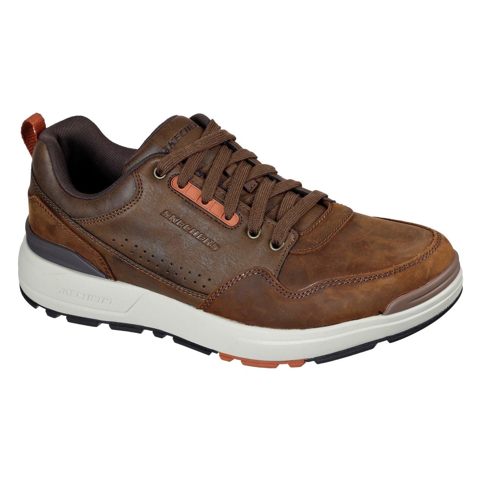Skechers Men's Rozier Mancer Trainer Multicolor 32450 - Chocolate/Dark Brown 9