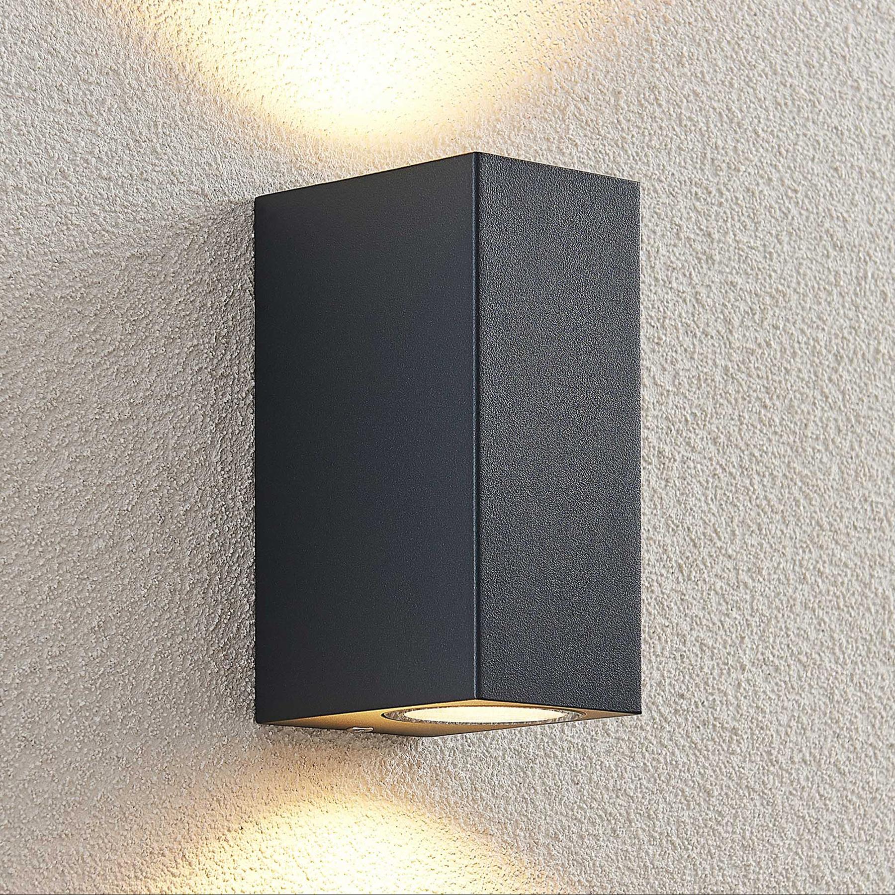 ELC Fijona -LED-ulkoseinälamppu, kulmikas, 15 cm